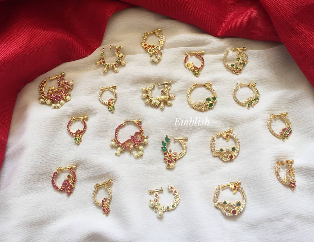Ethnic Nose Pin Collections From Emblish Coimbatore