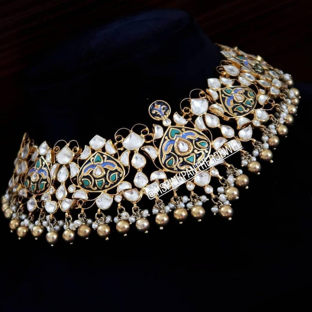 Grand Silver Choker From Ms Pink Panthers