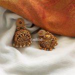 Matt Cut Work Dual Beads Jhumka From Emblish Coimbatore