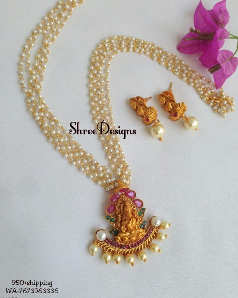 Simple Pearl Chain From Shree Designs