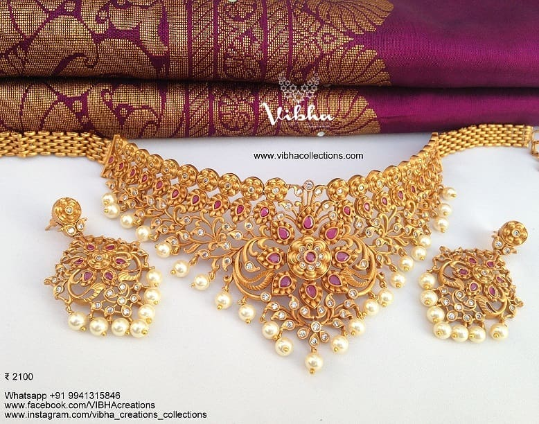 Stunning Choker From Vibha Creations