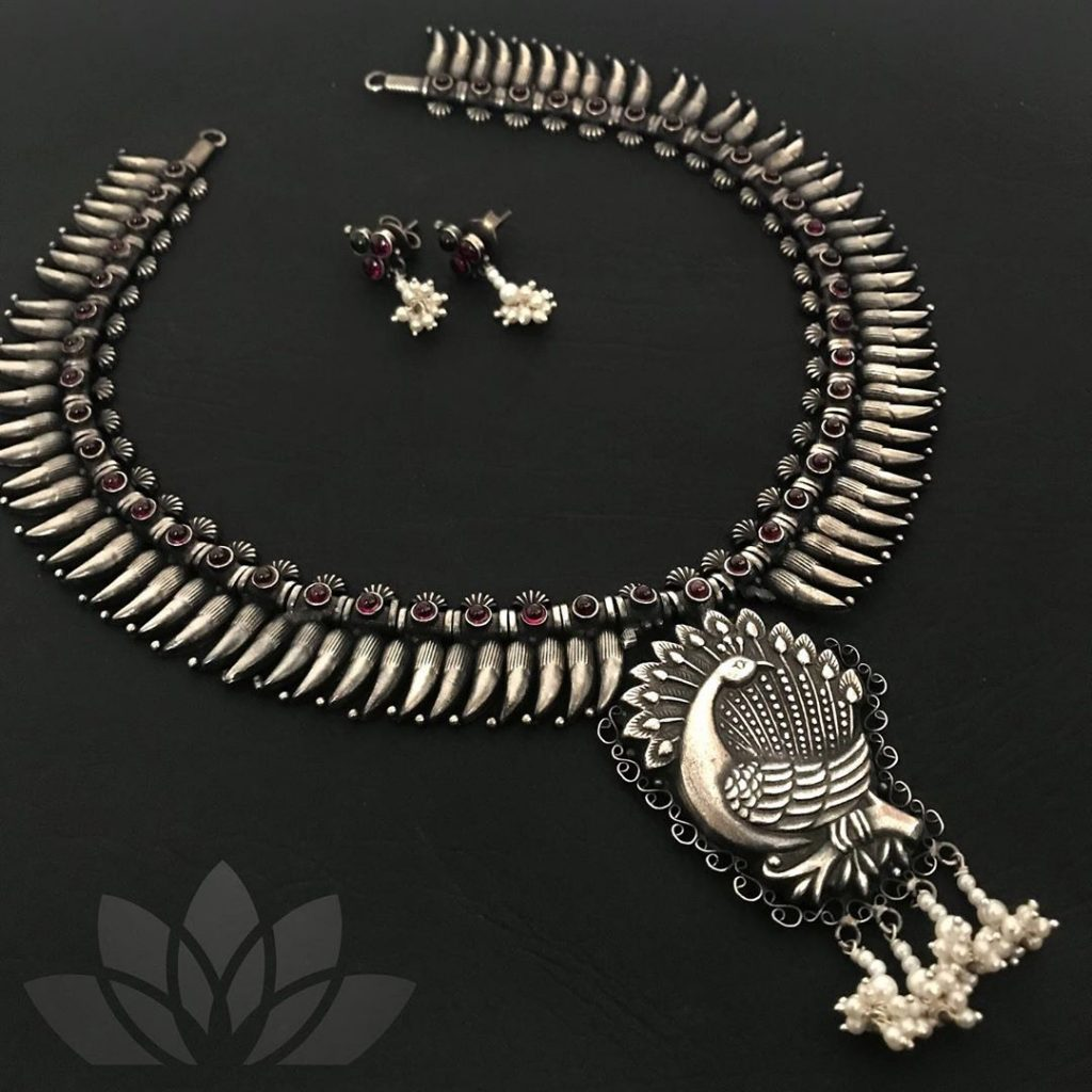 Adorable Silver Necklace From Prade Jewels