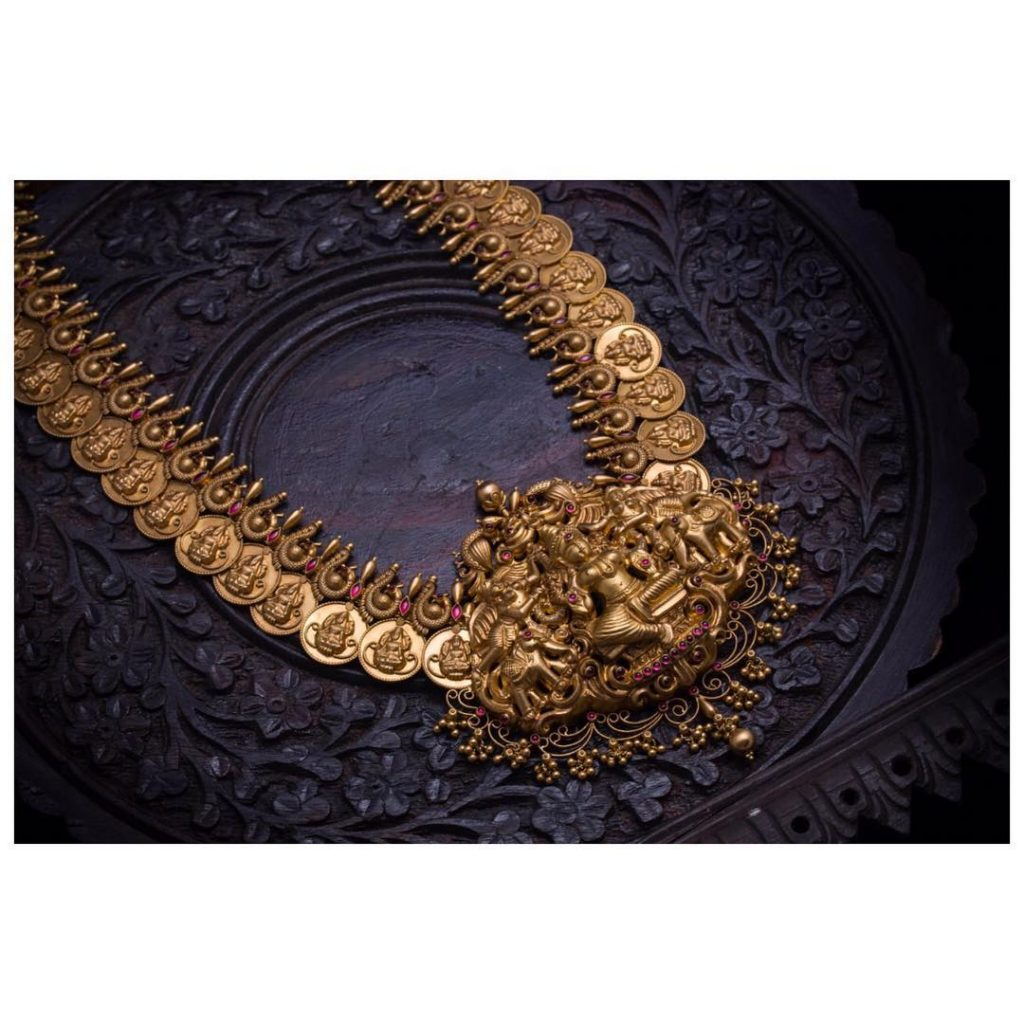 Adorable Temple Necklace From Aabushan Jewellery
