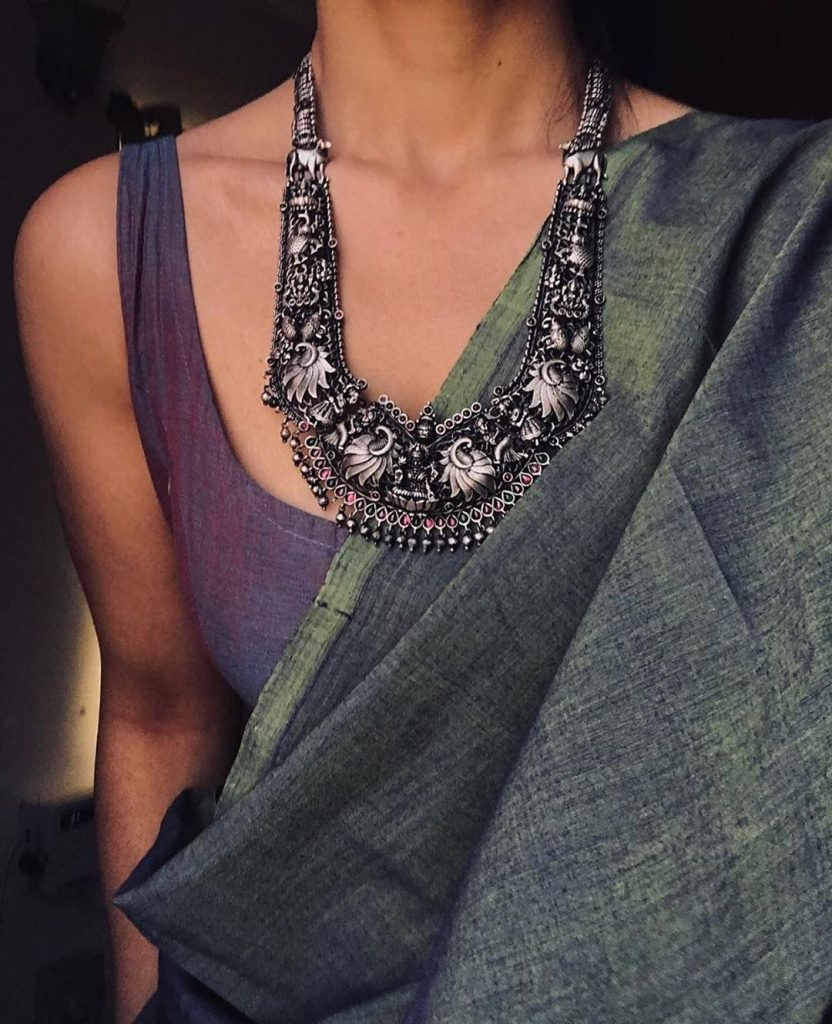 Beauiful Bold Silver Necklace From Prade Jewels