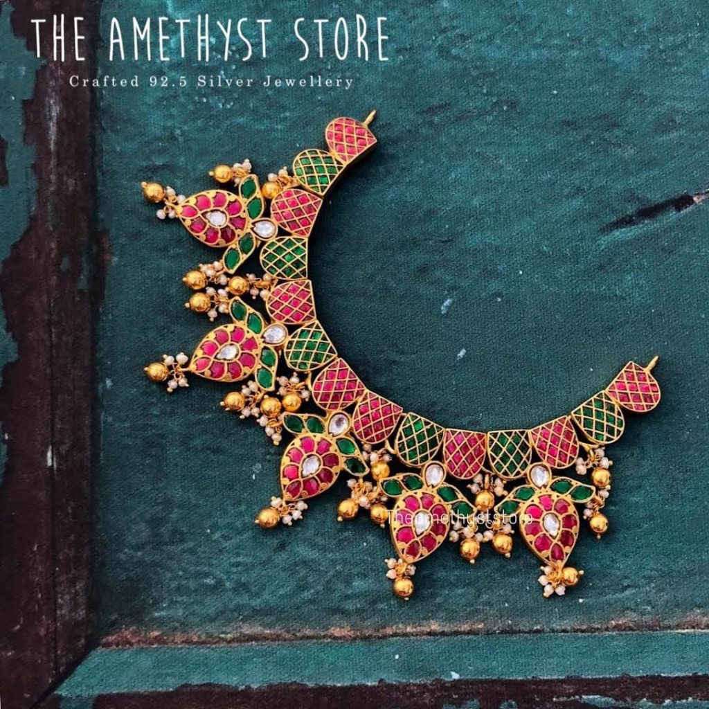 Beautiful Gold Plated Kundhan Necklace From The Amethyst Store