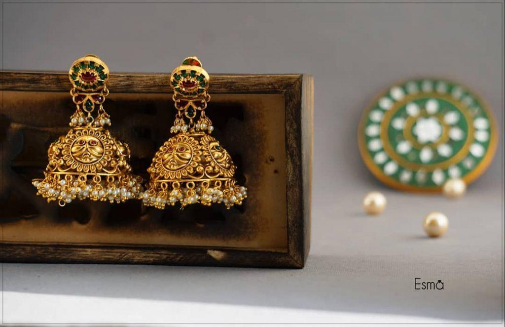 Cute Jhumka From Esma Jewellery