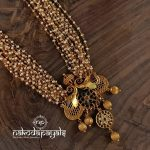 Gorgeous Gold Plated Silver Necklace From Nakodapayals