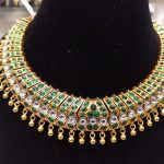 Grand Gold Plated Silver Choker From Samskruhi Jewellers