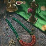 Precious Beaded Necklace From Aabharanam