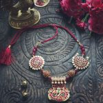 Precious Necklace With Rudra Balls From Abharanam