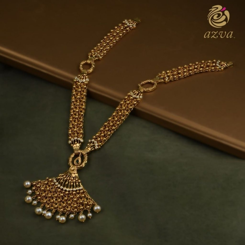 Pretty Gold Necklace From Azvavows