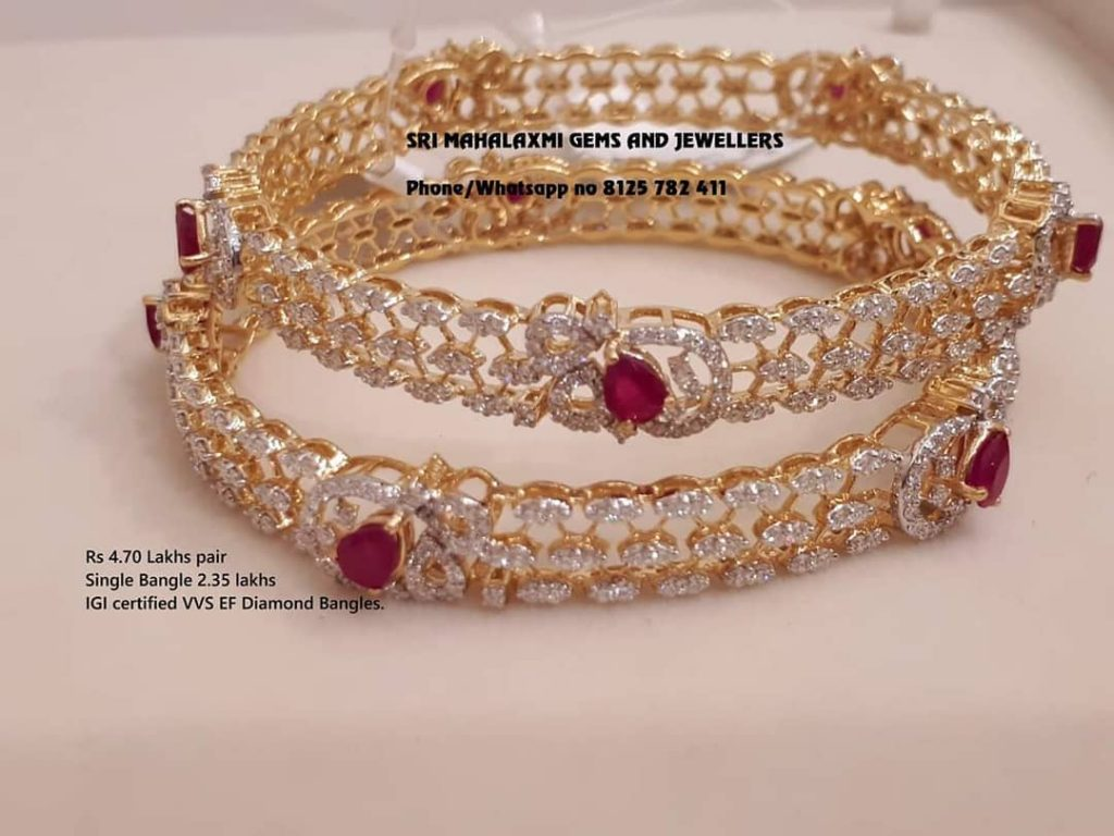 Stunning Stone Bangles From Sri Mahalakshmi Gems And Jewellers