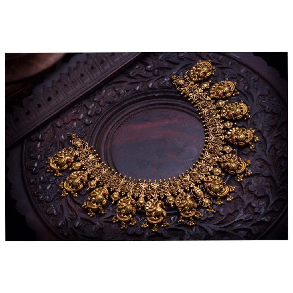 Traditional Antique Necklace From Aabushan Jewellery