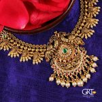 Alluring Gold Peacock Necklace From GRT Jewellers