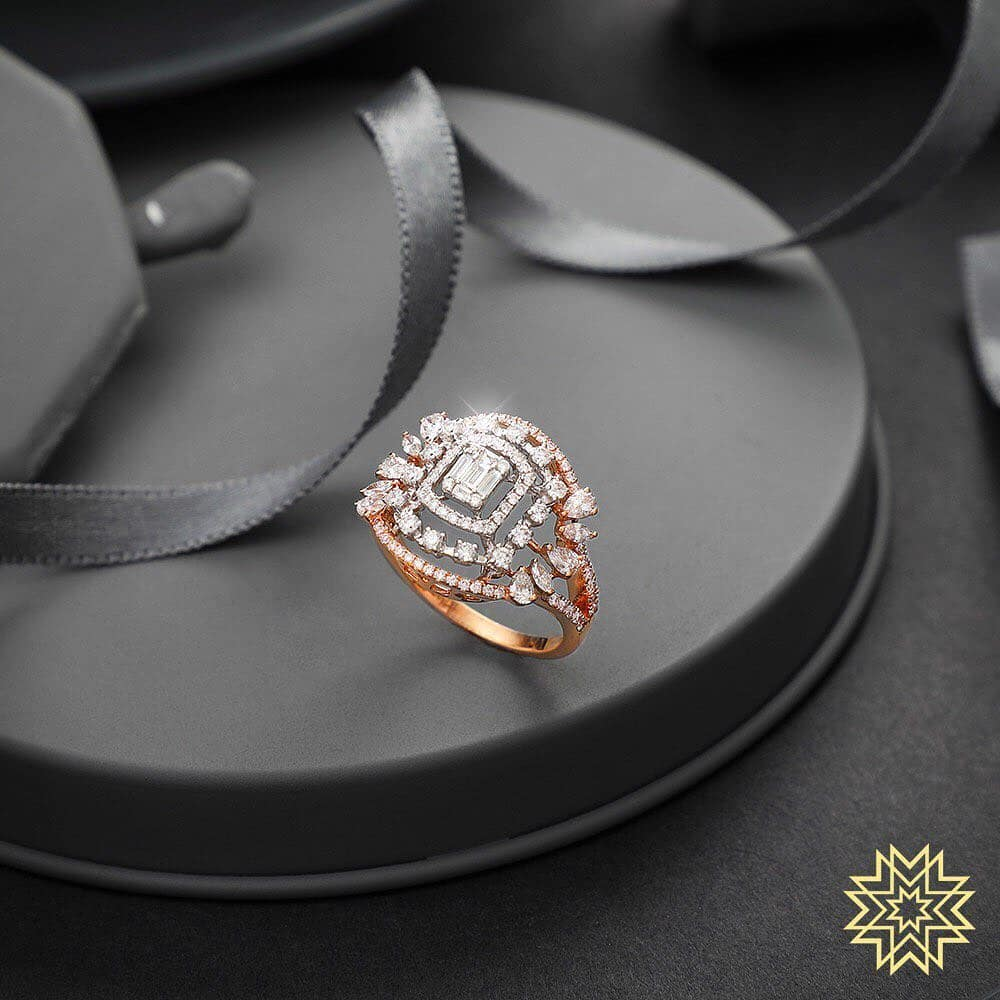 Attractive Diamond Ring From Manubhai Jewels