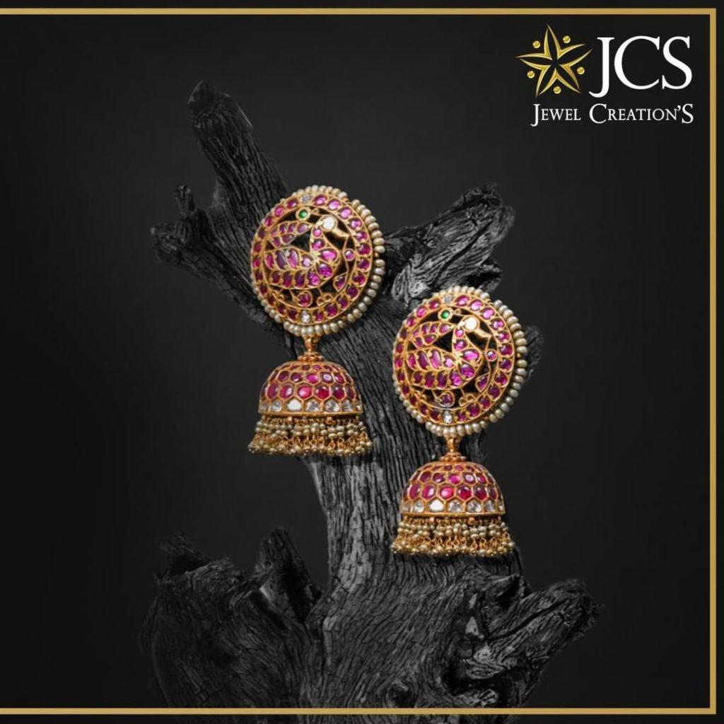 Beautiful Jhumkas From JCS Jewel Creations