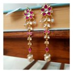 Decorative Silver Earrings From Studded India