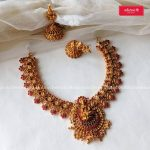 Decorative Temple Necklace Set From Adorna Chennai