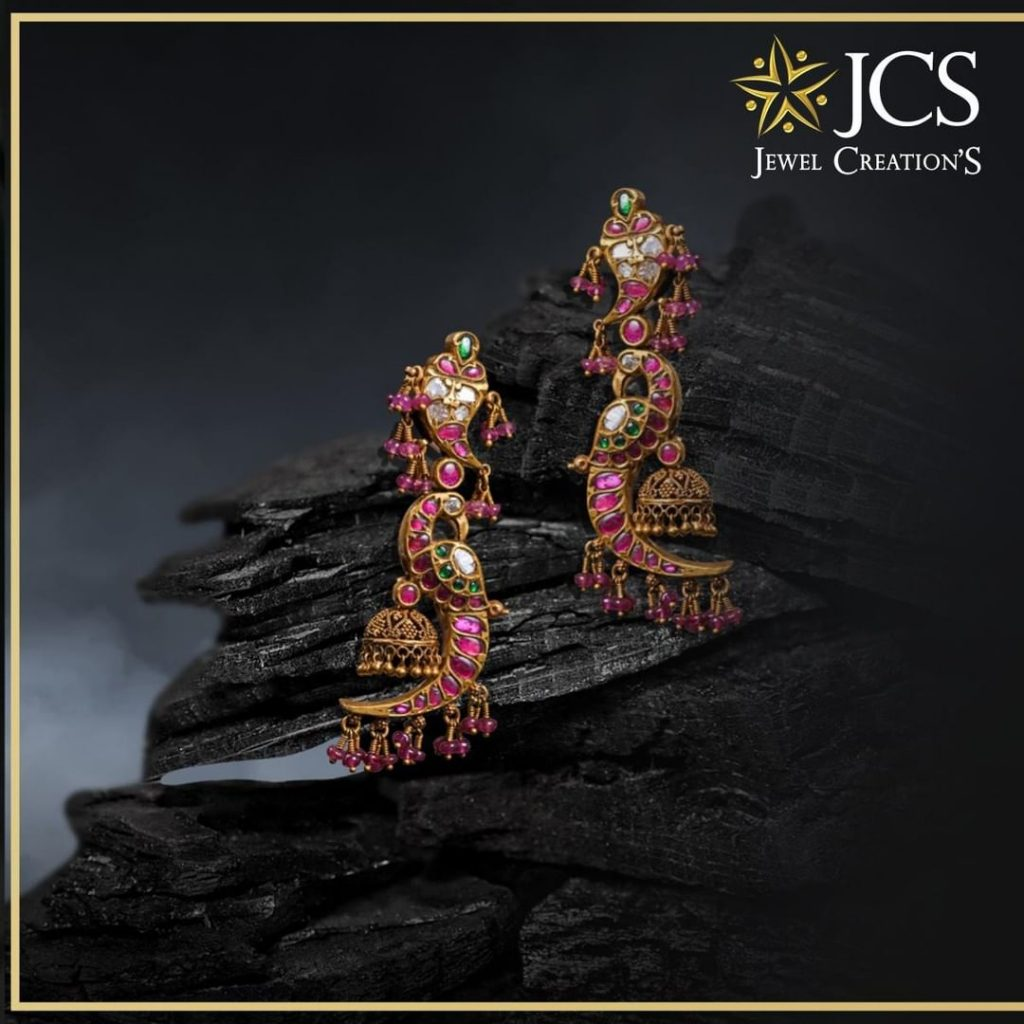 Elegant Gold Earring Collections From JCS Jewel Creations