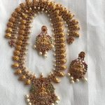 Grand Temple Necklace Set From Kirthi Fashions