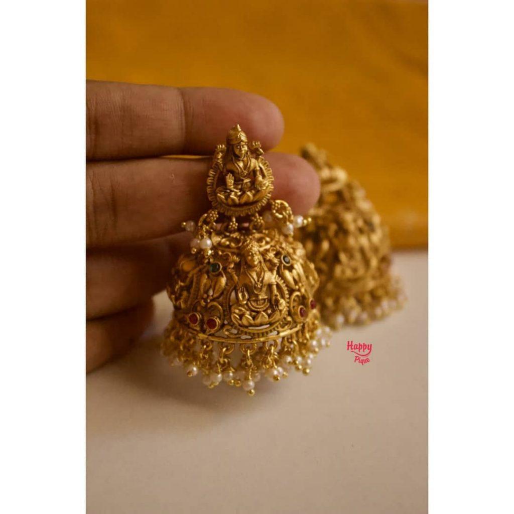 Mahalakshmi Designer Bridal Jhumkas From Happy Pique