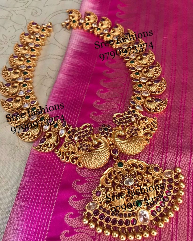 Pretty Silver Necklace From Sree Exotic Silver Jewelleries
