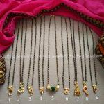 Simple Single Line Nallapoosalu From Kruthika Jewellery