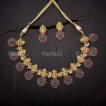 Trendy Temple Necklace From Kushal's Fashion Jewellery
