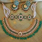 Adorable Silver Kundan Necklace Set From Rajatamaya