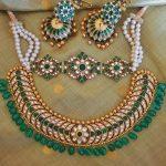 Adorable Silver Kundan Necklace Set From Rajatamaya