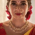 Alluring Navarathna Necklace Set From Prade Jewels