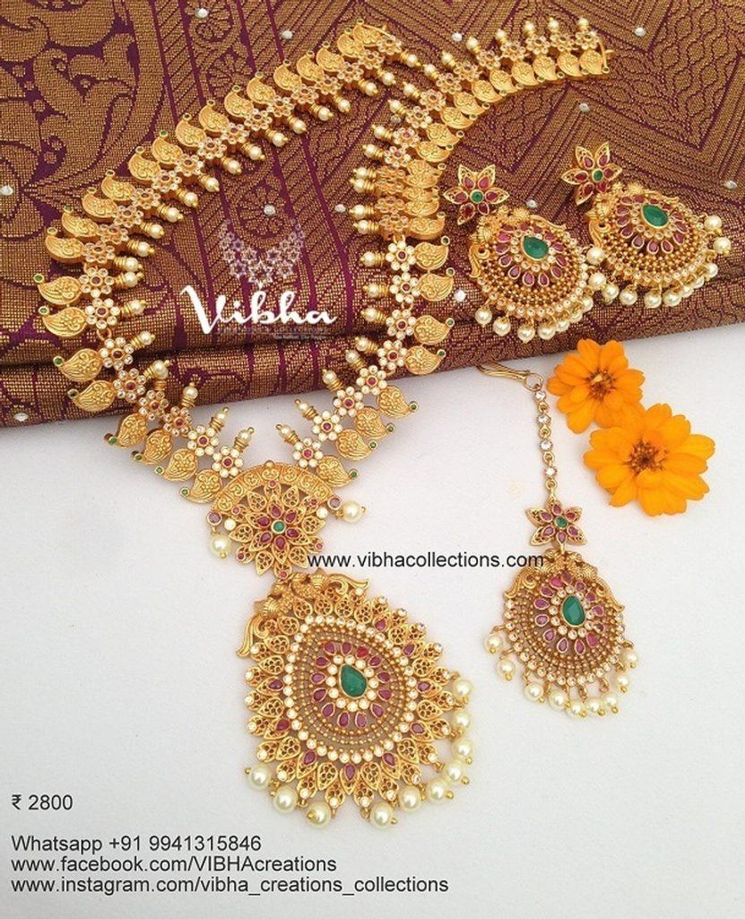 Amazing Long Neckalace Set From Vibha Creations