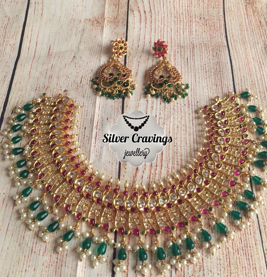 Beautiful Guttapusalu Choker Set From Silver Cravings Jewellery