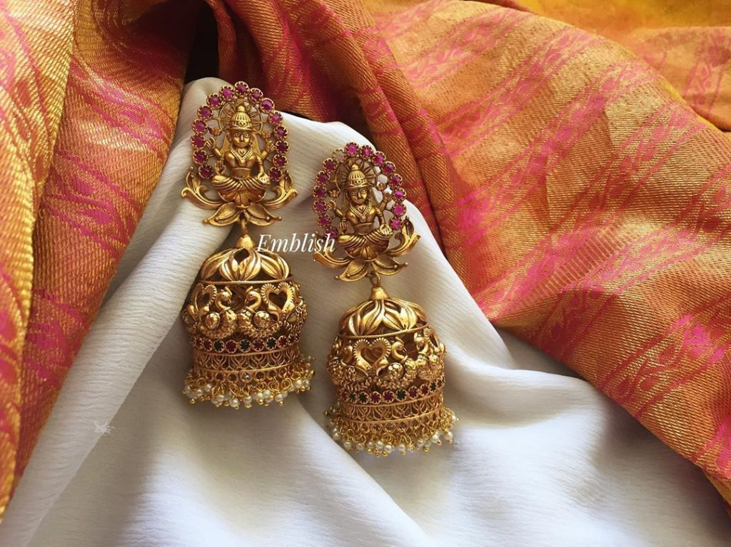 Beautiful Long Temple Jhumka From Emblish