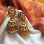 Beautiful Long Temple Jhumkas From Emblish