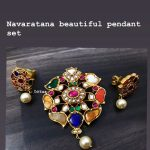 Beautiful Navarathna Pendant Set From Lotus Silver Jewellery