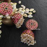 Beautiful Silver Jumbo Heavy Jhumkas From Parampariya