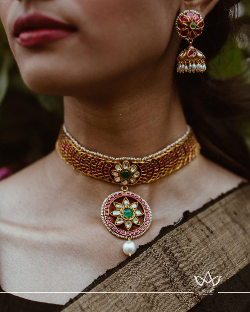 Classic Short Necklace Set From Aarni By Shravani