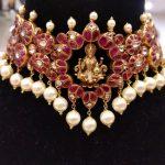 Classic Silver Kundan Choker From Samskruthi Jewellers