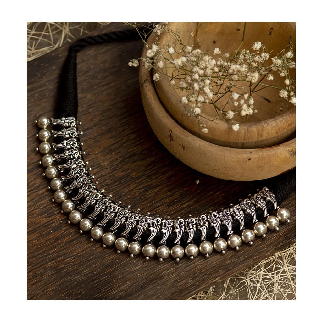 Classy Silver Necklace From Sukra Jewellery