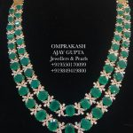 Elegant Diamond Necklace From Om Prakash Jewellers And Pearls