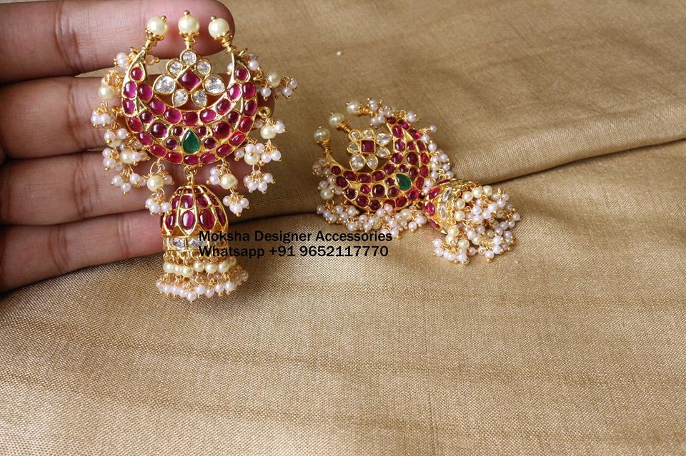 Ethnic Designer Jhumkas From Moksha Designer Accessories