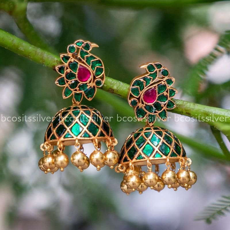 Ethnic Silver Jhumkas From Bcos Its Silver