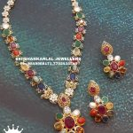 Evergreen Navarathna Necklace Set From Sri Shankarlal Jewellers