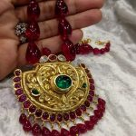 Gorgeous Beaded Necklace From Samskruthi Jewellers
