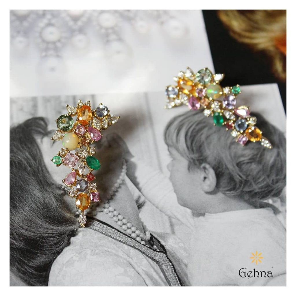 Gorgeous Diamond Earrings From Gehna India