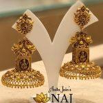 Gorgeous Gold Jhumkas From NAJ Jewellery