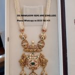 Graceful Gold Necklace From Sri Mahalakshmi Gems And Jewellers