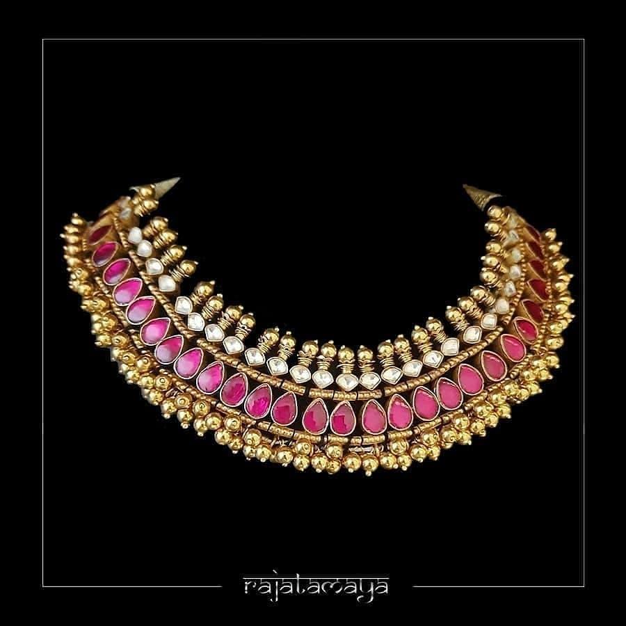 Grand Handmade Silver Necklace From Rajatamaya