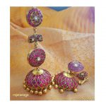 Handmade Cute Kundan Earrings From Rajatamaya